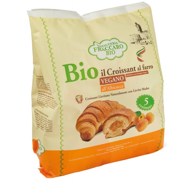 Pasticceria Fraccaro - Vegan Apricot Organic Croissant With Spelt Flour - Organic Croissant - Fraccaro Spumadoro