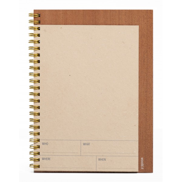 Wood'd - Spiral Notebook A5 Avana - Desk Supplier - Wood'd Desk Collection