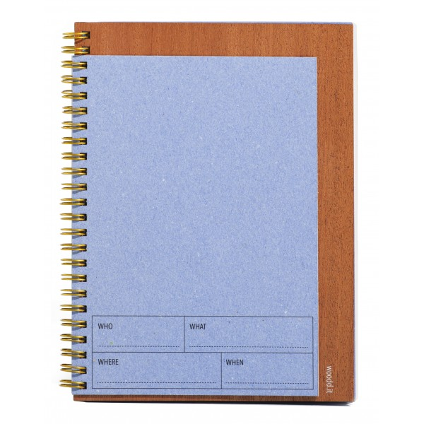 Wood'd - Spiral Notebook A5 Blu - Desk Supplier - Wood'd Desk Collection