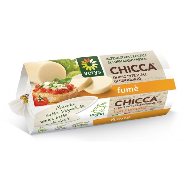 Verys - Chicca Fumè - Vegan Mozzarella of Rice - Vegan Cheese Originated from Germinated Rice - Vegan Organic - 200 g