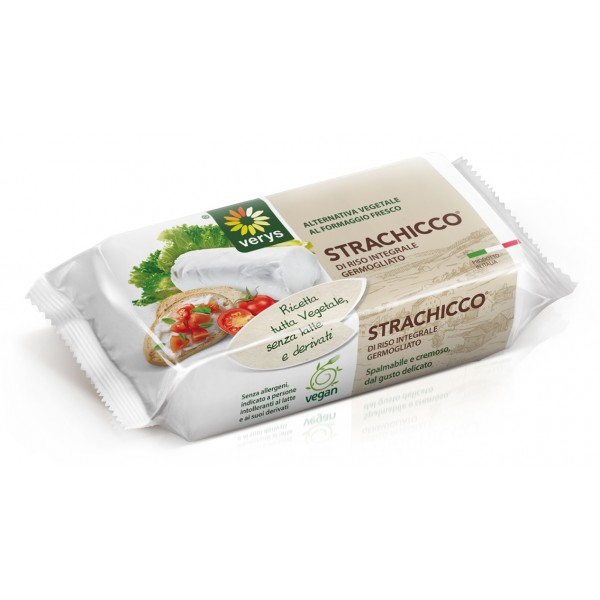 Verys - Strachicco - Vegan Spreadable Classic of Rice - Vegan Cheese Originated from Germinated Rice - Vegan Organic - 200 g