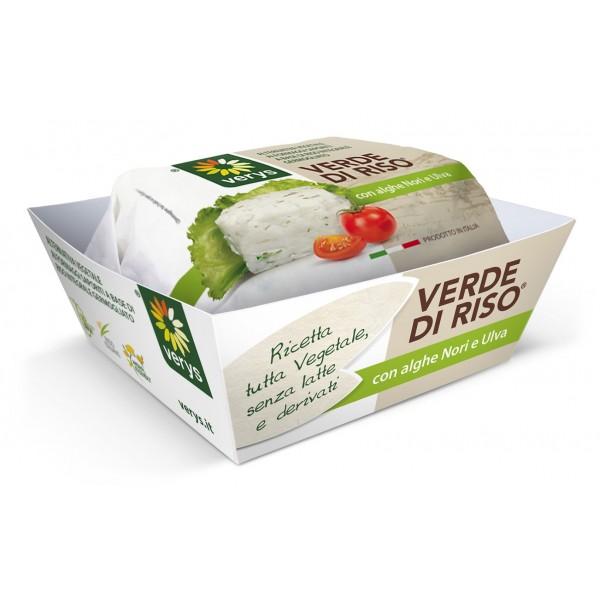 Verys - Verde di Riso - Formaggio Vegano di Riso - Formaggio a Base di Riso Integrale Germogliato - Vegan Bio - 200 g