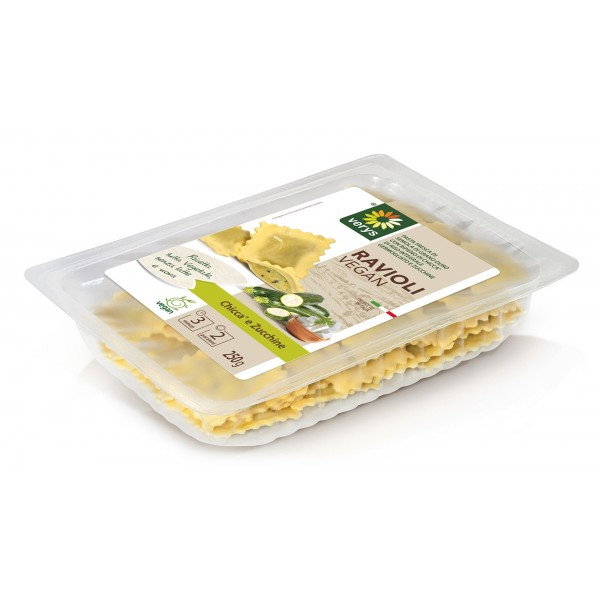 Verys - Ravioli Vegan with Mozzarella & Zucchini - Ravioli Vegan - Fresh Meals - Vegan Organic - 250 g