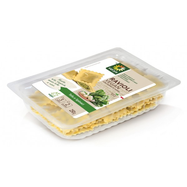 Verys - Ravioli Vegan with Tofù and Spinach - Ravioli Vegan - Fresh Meals - Vegan Organic - 250 g