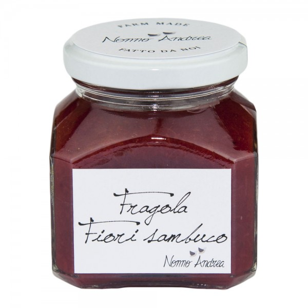 Nonno Andrea - Strawberry and Elderflower Sweet Compote - Sweet Compotes Organic