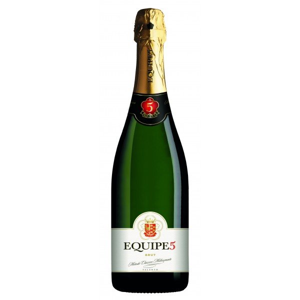 Cantina di Soave - Equipe5 - Sparkling Brut D.O.C. - Mathusalem with Wooden Case - 6 l - Sparkling Wines Classic Method Talent