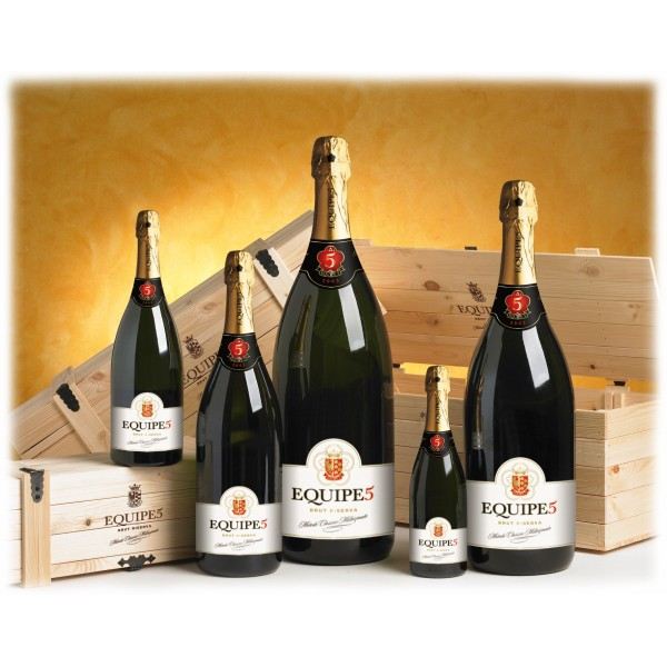 Cantina di Soave - Equipe5 - Sparkling Brut D.O.C. - Salmanazar with Wooden Case - 9 l - Sparkling Wines Classic Method Talent