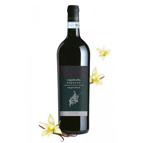 Cantina di Soave - Rocca Sveva - Valpolicella Superiore Ripasso D.O.C. - Jeroboam in Wooden Box - 3 l - Grotta Selection