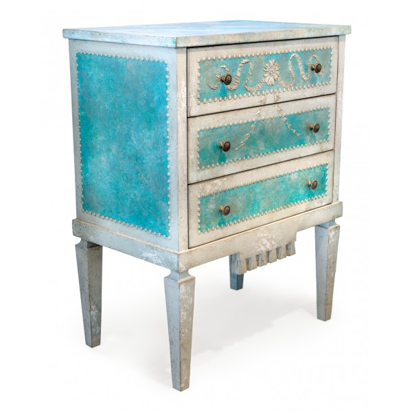 Porte Italia Interiors - Nightstand - Fenice Nightstand with Drawers
