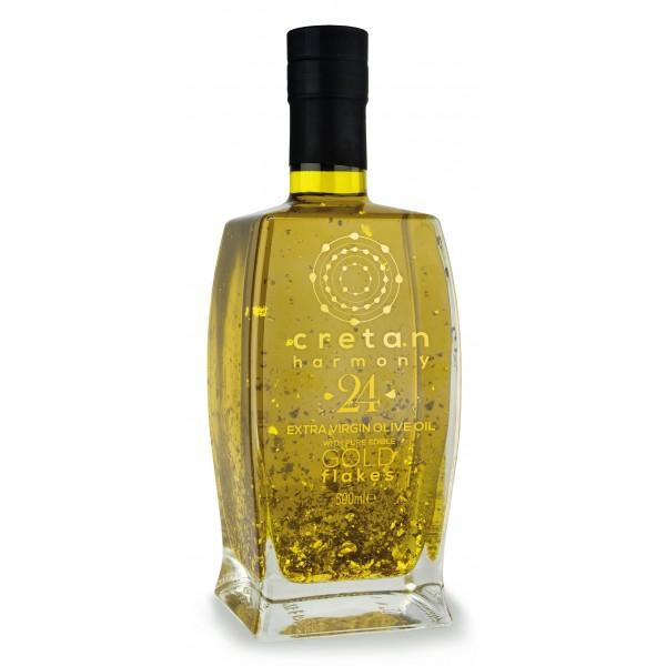 Cretan Harmony 24 - Extravirgin Olive Oil with Gold Edible Flakes 24 K - 500 ml