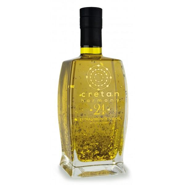 Cretan Harmony 24 - Extravirgin Olive Oil with Silver Edible Flakes - 500 ml