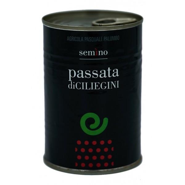 Semino il Pomodoro - Passata di Pomodori Ciliegini Rossi - Latta - Conserve - 400 gr