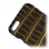 Ammoment - Coccodrillo del Nilo in Nero e Oro - Cover in Pelle - iPhone 8 / 7