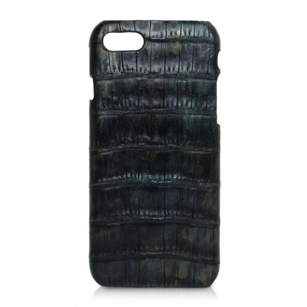 Ammoment - Caiman in Black Northern Light - Leather Cover - iPhone 8 / 7