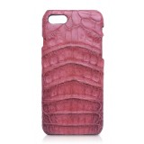 Ammoment - Caimano in Nero Terracotta Antico - Cover in Pelle - iPhone 8 / 7