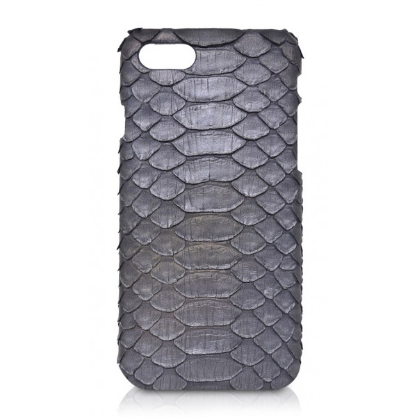 Ammoment - Python in Calcite Grey - Leather Cover - iPhone 8 / 7