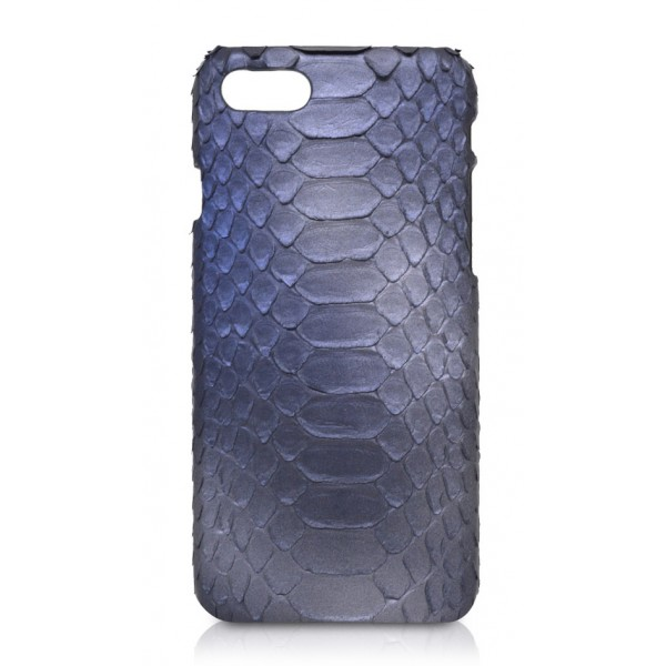 Ammoment - Python in Calcite Blue - Leather Cover - iPhone 8 / 7