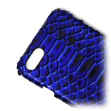 Ammoment - Pitone in NYX Blu - Cover in Pelle - iPhone 8 / 7