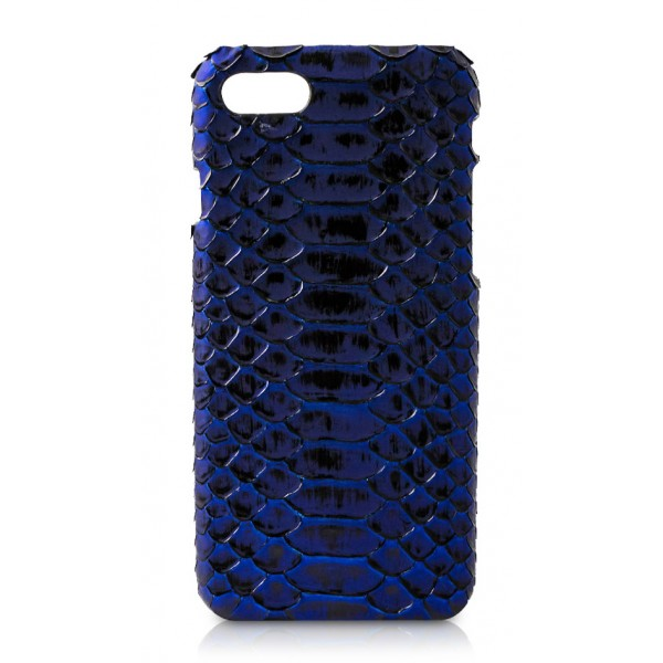 Ammoment - Python in NYX Blue - Leather Cover - iPhone 8 / 7