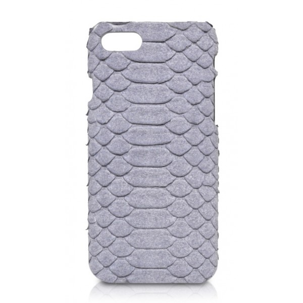 Ammoment - Python in Pomice Grey - Leather Cover - iPhone 8 / 7