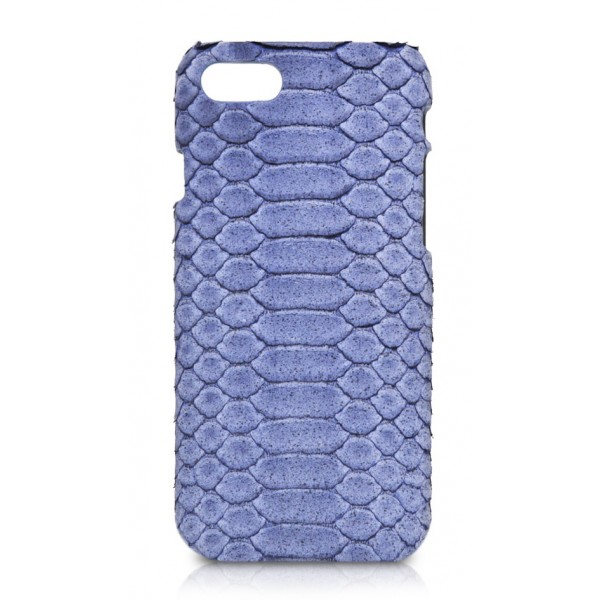 Ammoment - Python in Pomice Blue - Leather Cover - iPhone 8 / 7