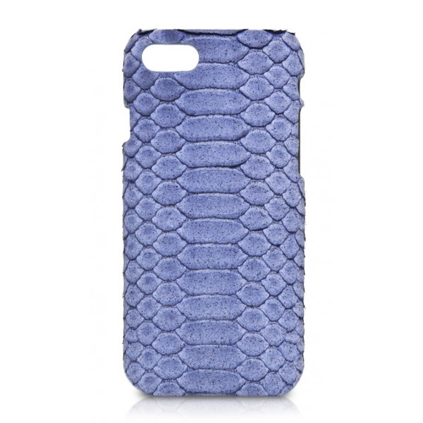 Ammoment - Pitone in Blu Pomice - Cover in Pelle - iPhone 8 / 7