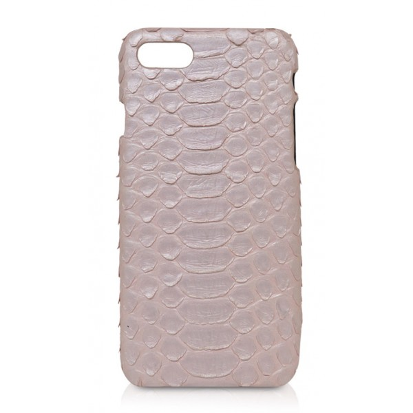 Ammoment - Python in Nacre Rose - Leather Cover - iPhone 8 / 7