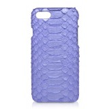 Ammoment - Pitone in Blu Nacre - Cover in Pelle - iPhone 8 / 7