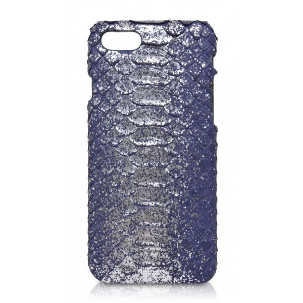 Ammoment - Pitone in Argento Demetra Antico - Cover in Pelle - iPhone 8 / 7
