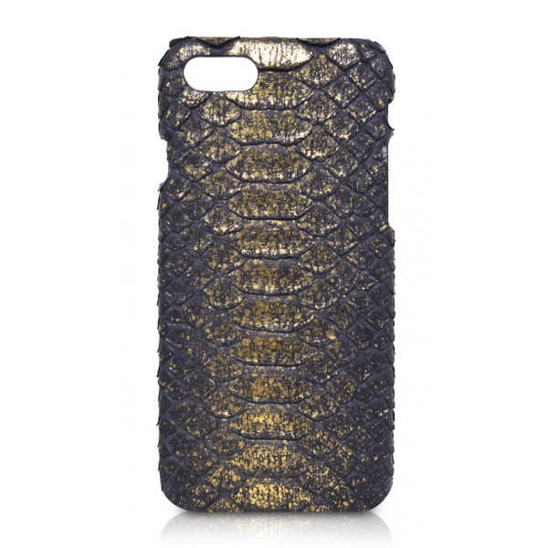 Ammoment - Pitone in Oro Demetra Antico - Cover in Pelle - iPhone 8 / 7