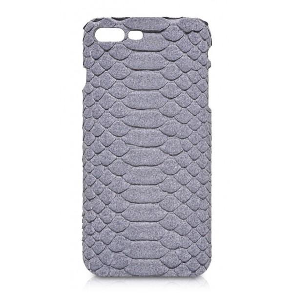 Ammoment - Pitone in Grigio Pomice - Cover in Pelle - iPhone 8 Plus / 7 Plus