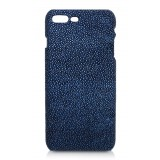 Ammoment - Razza in Glitter Blu Metallico - Cover in Pelle - iPhone 8 Plus / 7 Plus