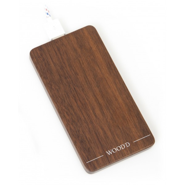 Wood'd - Walnut Powerbank - Portable Batteries - Stone Collection - 4000 mAh