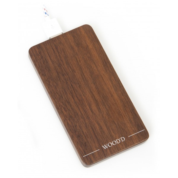 Wood'd - Powerbank in Noce - Batterie Portatili - Wood'd Collection - 4000 mAh