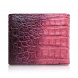 Ammoment - Caimano in Nero Terracotta Antico - Portafoglio Bi-Fold in Pelle con Flap Centrale