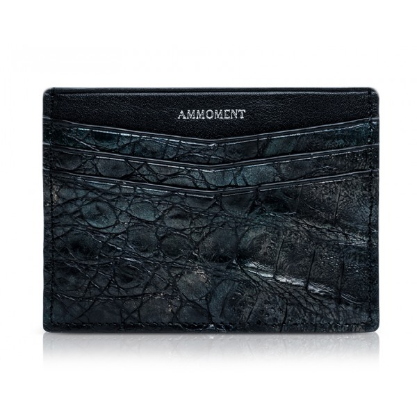Ammoment - Caiman in Black Northern Light - Leather Credit Card Holder