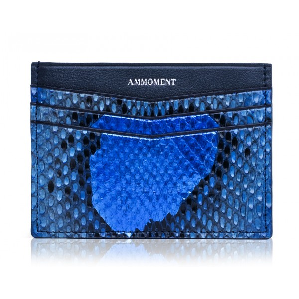 Ammoment - Python in Alien Royal Blue - Leather Credit Card Holder