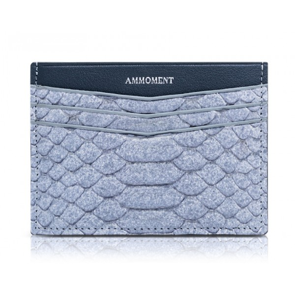 Ammoment - Python in Pomice Grey - Leather Credit Card Holder