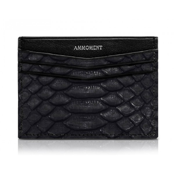 Ammoment - Python in Black - Leather Credit Card Holder
