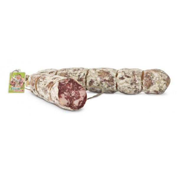 Salumificio Lovison - Salame Punta di Coltello Lovison - Salumi Artigianali - Salame Esclusivo del Salumificio Lovison - 800 g