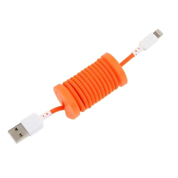 Philo - Cavo e Bobina MFI Lightning per Dispositivo Apple - 1 mt - Arancione - Cavi