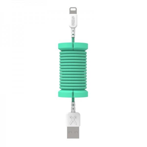 Philo - Cavo e Bobina MFI Lightning per Dispositivo Apple - 1 mt - Azzurro - Cavi