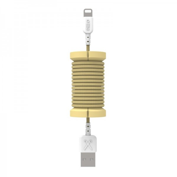 Philo - Lightning MFI Cable and Spool for Apple Device 1 mt - Gold - Cables