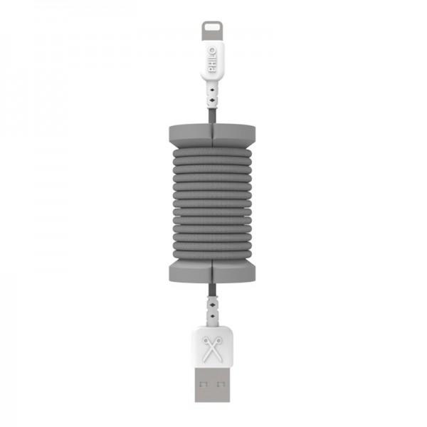 Philo - Cavo e Bobina MFI Lightning per Dispositivo Apple - 1 mt - Grigio Spazio - Cavi