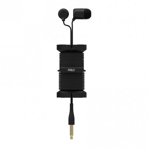 Philo - Auricolari con Microfono e Bobina Morbida per Apple e Qualsiasi Dispositivo - Nero - Auricolari