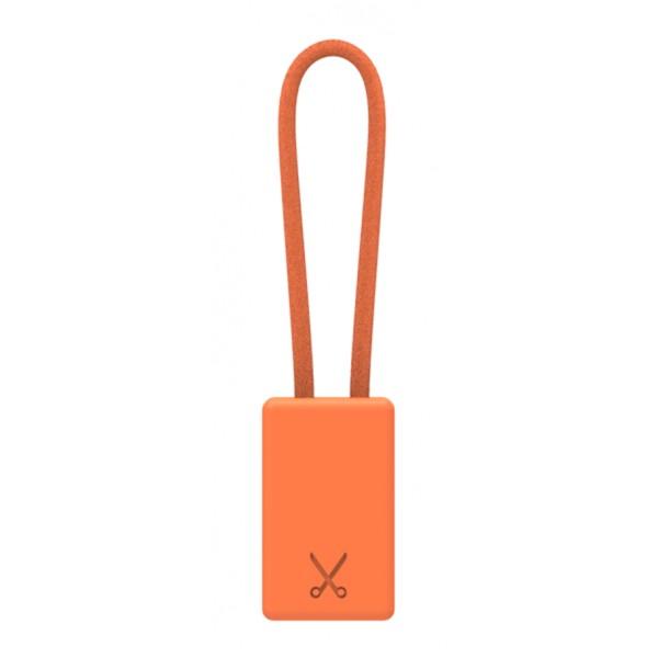 Philo - Portachiavi con Cavo di Ricarica MFI Certificato Apple Device - Arancione - Cavi