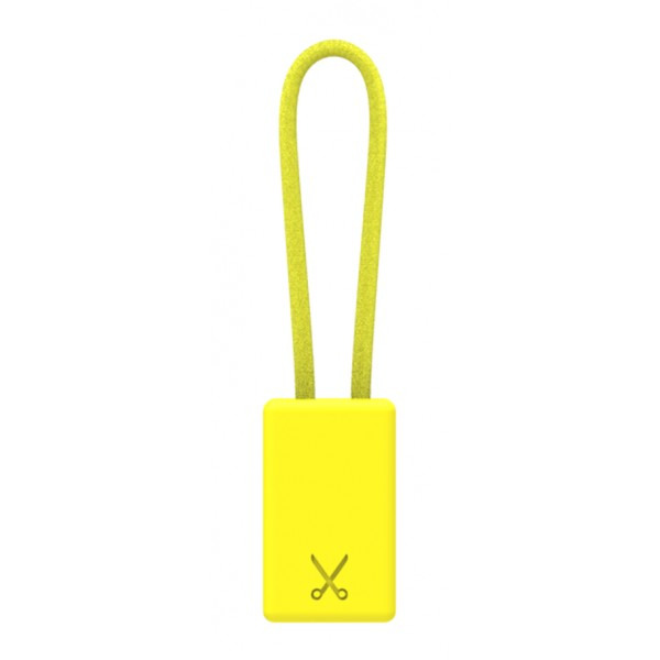 Philo - Lightning MFI Charging Cable Keychain for Apple Device - Yellow - Cables