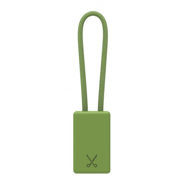 Philo - Portachiavi con Cavo di Ricarica MFI Certificato Apple Device - Verde Militare - Cavi