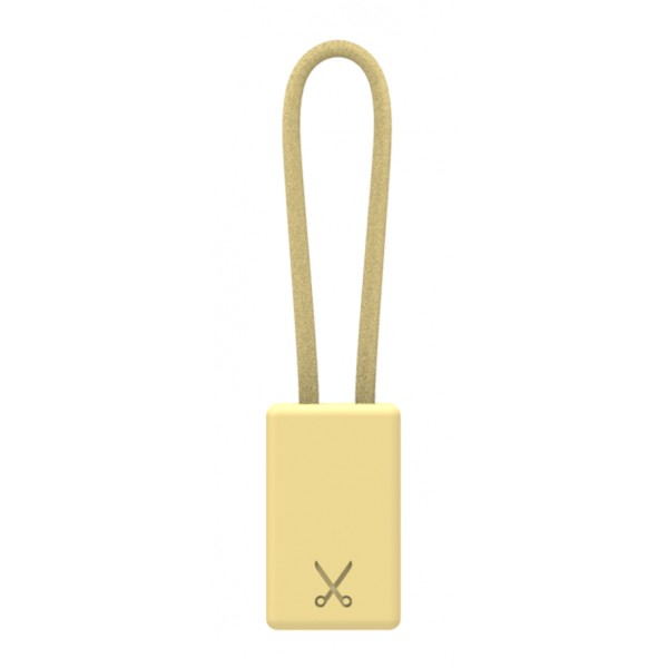 Philo - Lightning MFI Charging Cable Keychain for Apple Device - Gold - Cables