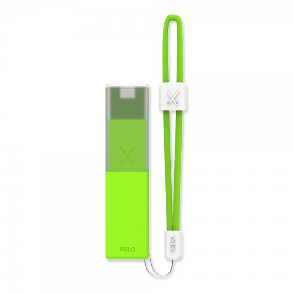 Philo - High Capacity Portable Power Bank Mobile Phone Charger - Green - Portable Batteries - 2600 mAh